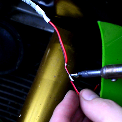 soldering wires together