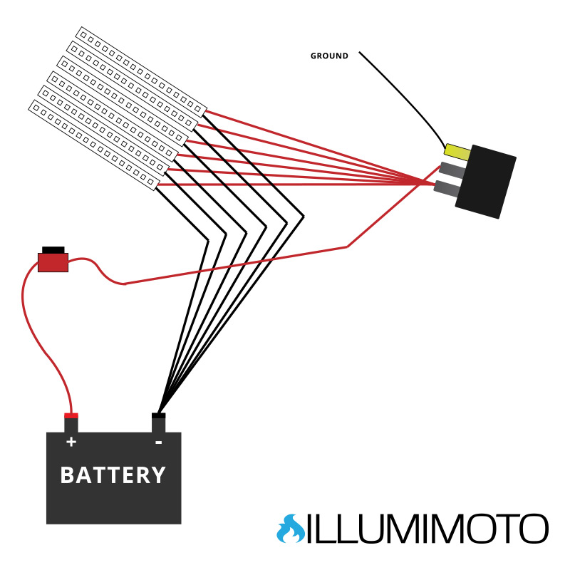 illumimoto motorcycle led light wiring diagram
