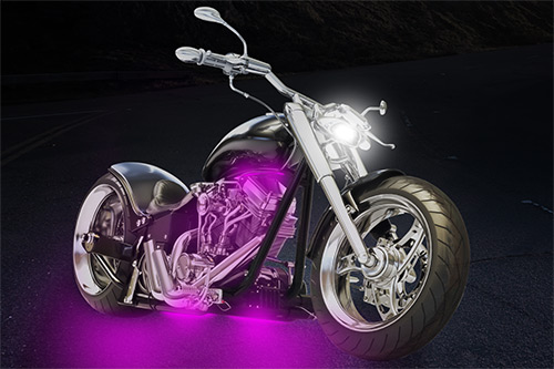 pink motorcycle lights
