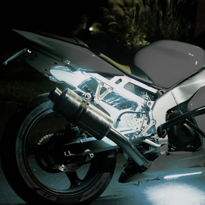white-motorcycle-led-lights ... & White Motorcycle LED Light Kit - Illumimoto azcodes.com