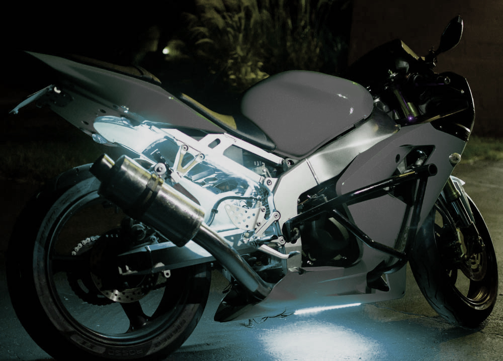 white led motorcycle lights